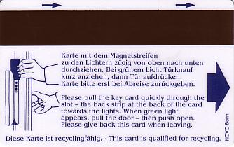 Hotel Keycard Maritim Cologne Germany Back
