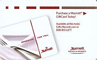 Hotel Keycard Marriott Generic Front