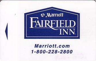 Hotel Keycard Marriott - Fairfield Inn & Suites Generic Front