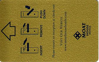 Hotel Keycard Moat House Generic Front