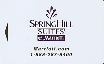 Hotel Keycard Marriott - SpringHill Suites Generic Front