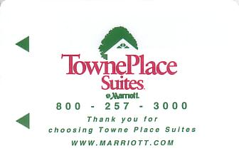 Hotel Keycard Marriott - TownePlace Suites Generic Front