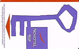 Hotel Keycard Novotel  Luxembourg Front