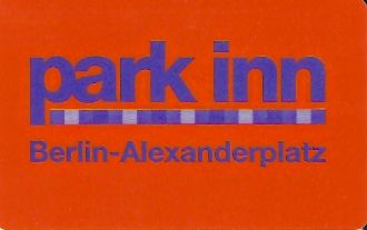 Hotel Keycard Park inn  Berlin Germany Front