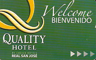 Hotel Keycard Quality Inn & Suites San Jose Costa Rica Front