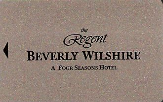 Hotel Keycard The Regent Beverly Hills U.S.A. Front