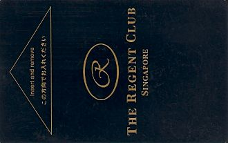 Hotel Keycard The Regent  Singapore Front