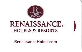 Hotel Keycard Renaissance Generic Front