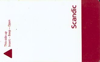 Hotel Keycard Scandic Generic Front