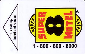 Hotel Keycard Super 8 Motel Generic Front