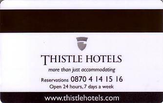 Hotel Keycard Thistle Hotels London United Kingdom Back