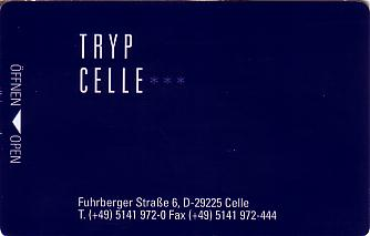 Hotel Keycard Sol Melia - Tryp Celle Germany Front