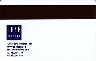 Hotel Keycard Sol Melia - Tryp Celle Germany Back